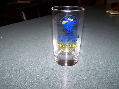 Vintage Evinrude Outboard Motor Credit Union 25 Yr  Service Drinking Glass 1958