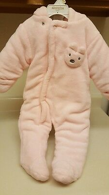 NWOT ABSORBA Baby Girls Pink Snowsuit Size 6-9 months