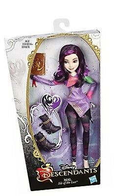 DISNEY DESCENDANTS MAL DOLL signature outfit RETIRED ISLE OF THE LOST