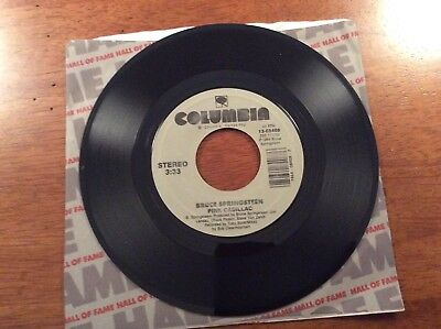 Bruce Springsteen Dancing In The Dark And Pink Cadillac 45 Record
