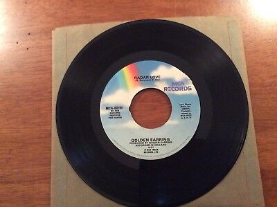 Golden Earring Radar Love And Just Like Vince Taylor 45 Record