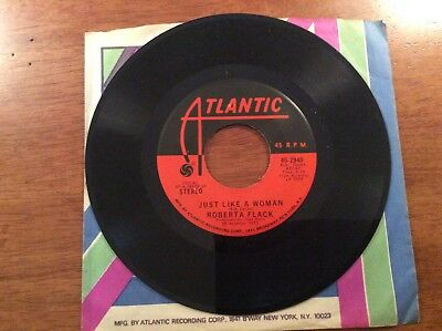 Roberta Flack Killing Me Softly With His Song And Just Like A Woman 45 Record