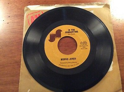 Mungo Jerry In The Summertime And Mighty Man 45 Record