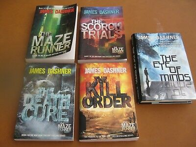 Lot The Maze Runner Series Kill Order Eye of the Minds Death Cure More Low Price