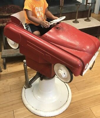Antique Childrens Kids Barber Chair