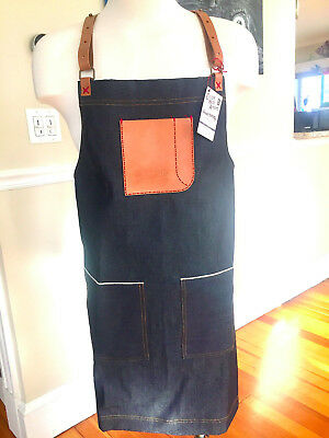 denim leather apron bramby supply brand new! the king of aprons!!