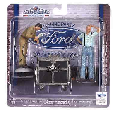 1/18-MotorHead FORD-3 pc set #2 of service figures-Mechanics-shop/garage/diorama