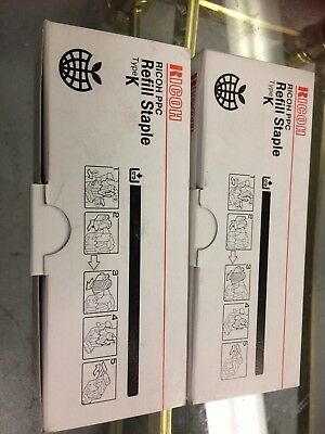 (Lot of 2 Box) Ricoh PPC Refill Staple Type K (Genuine) 410802 (5,000 Staples/Bo