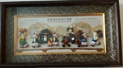 Korean Traditional Wedding March Shadow Box 3D Figures Wall  Hanging