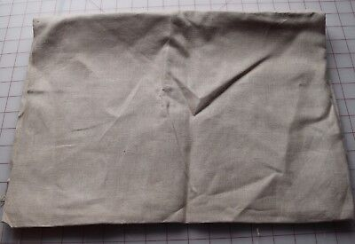 1/2 yd vintage Ecru natural linen fabric, great for embroidery project