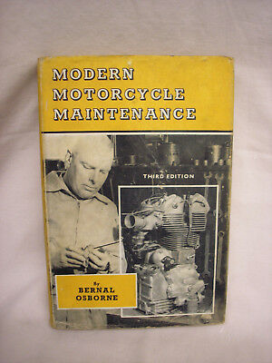 MODERN MOTORCYCLE MAINTENANCE BOOK by BERNAL OSBORNE.  Third edition 1961
