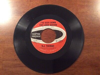 B.J. Thomas Hooked On A Feeling And Ive Been Down This Road Before 45 Record