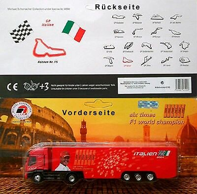 MICHAEL SCHUMACHER COLLECTION ITALIEN 2004 Werbetruck