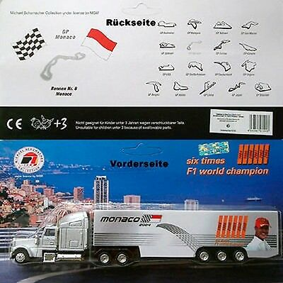 MICHAEL SCHUMACHER COLLECTION MONACO 2004 Werbe Truck