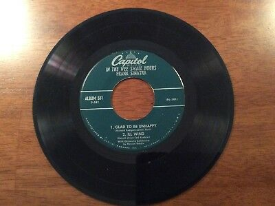 In The Wee Small Hours - Frank Sinatra, 4 Songs On One 45 Record See Description
