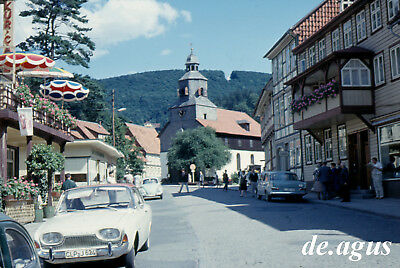 35mm slide Photo 1960s Ford Taunus 17 M,vw beetle volkswagen