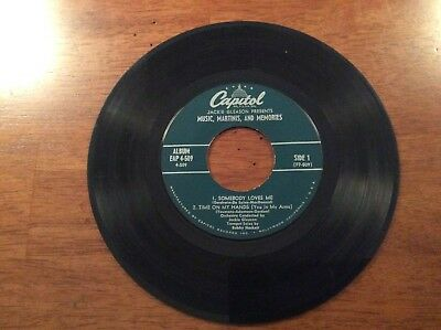 Music, Martinis, And Memories, Irving Berlin The Song Is Ended And Others 45 Rpm