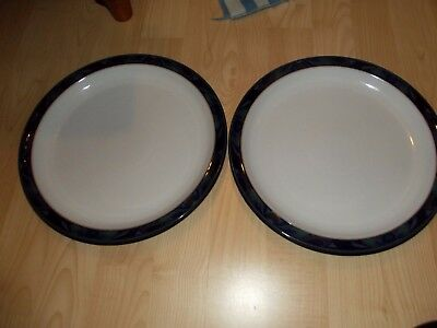 denby baroque dinner plates x 2 unused