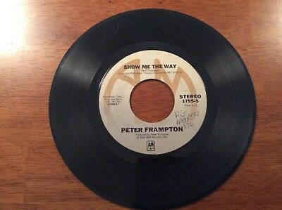 Peter Frampton Show Me The Way And Shine On 45 Record