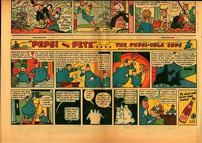 Lot 3 Sunday Comic-Strip Ad Pages Featuring Pepsi And Pete, The Pepsi-Cola Cops