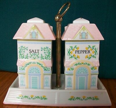 Lenox Spice Village Salt & Pepper w/ Caddy