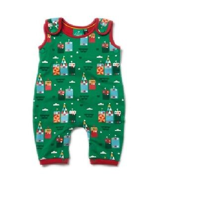Little Green Radicals Organic DUNGAREES 0 3 6 9 12  Magic Sandcastle LGR