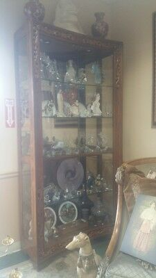 Henredon Alfresco Curio Display Cabinet French Country Old World Elegance