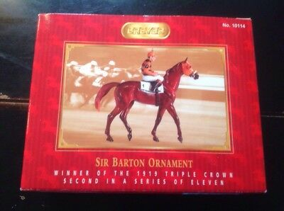 Breyer SIR BARTON 1919 Winner Handpainted Triple Crown Ornament  Series 2004