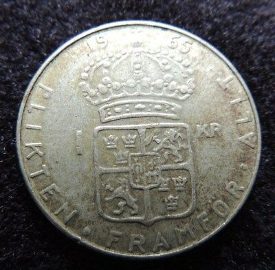 SWEDEN     1965-u      SILVER      1 Krona        KM-826           GREAT  GIFT