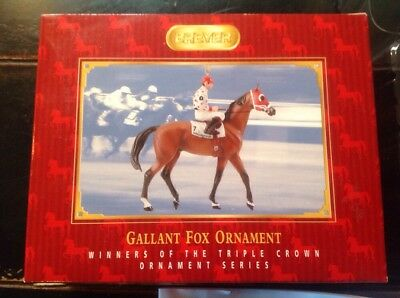 Breyer GALLANT FOX 1935  Winner Handpainted Triple Crown Ornament  Series 2006