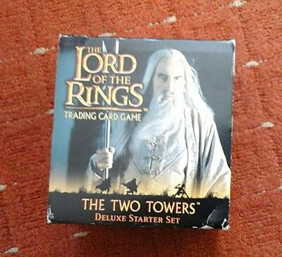 Lord Of The Rings Two Towers  Deluxe Starter  Trading Card Game Set