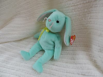 New Ty Beanie Babies Hippity the Mint Green Bunny Retired!