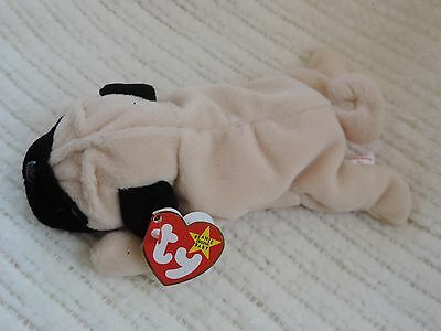 New Ty Beanie Babies Pugsly the Dog Retired