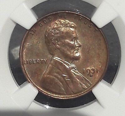 Ngc 1931 D Lincoln Cent - Choice Unc Nice Color Bargin Priced See Pics! -