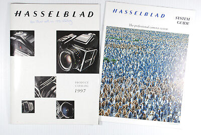 1997 HASSELBLAD CAMERA SYSTEM CATALOG BROCHURE and HASSELBLAD SYSTEM GUIDE