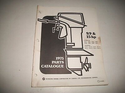 1975 Evinrude & Johnson 9.9 & 15 Hp Outboard Engine Illustrated  Parts Catalog