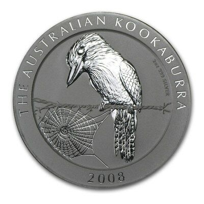 2008 Australia 1 oz Silver Kookaburra (from mint roll)
