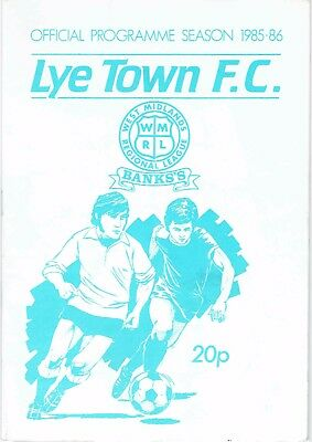 Lye Town v Stafford Rangers (FA Cup, 1st Qualifying Round) - 07/09/1985