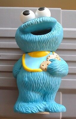 "Cookie Monster Vintage Bank 9 1/2"" Tall Henson Productions"