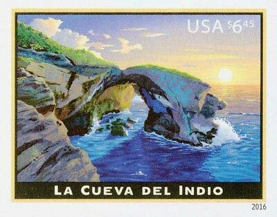 2016 $6.45 La Cueva Del Indio, Priority Mail, Imperforate Scott 5040a Mint VF NH