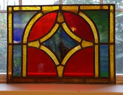 Antique Stained Leaded Glass Window St. Casimir's Catholic Church 1909