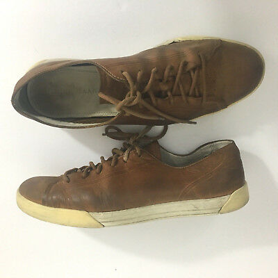 Cole Haan Nke Air Mens Sz 11 Leather Fashion Sneakers Lace Up Brown Light Shoes
