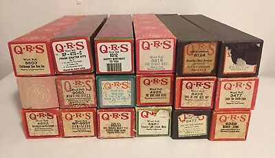 Lot Of 18 Q R S Word Roll Player Piano Old Time Songs Original Boxes Q.r.s.