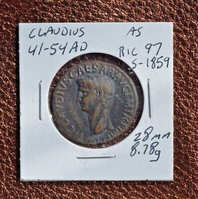 Claudius  41-54 Ad As Ric 97  S-1859  28Mm 8.78G  R-7238