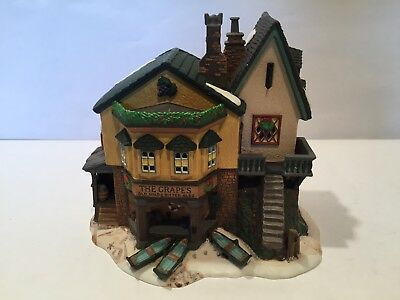 Dept 56 Dickens Village The Grapes Inn With Light