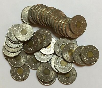 Lot of 44 Garden State Parkway (New Jersey) transit tokens