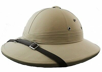 Safari Pith Helmet Deluxe Explorer Hunter Helmet Jungle Costume Hat