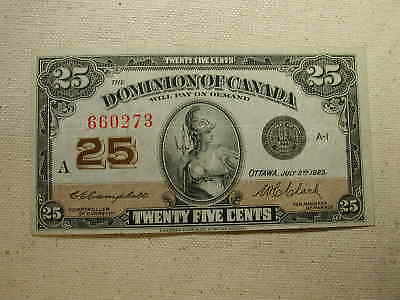 1923  The Dominion of Canada .25 xf au July 2nd 1923