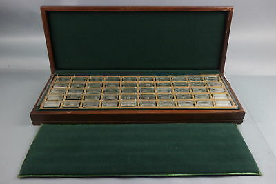 The Franklin Mint 1971 Proof Set of 50 bank marked Sterling Silver Ingots