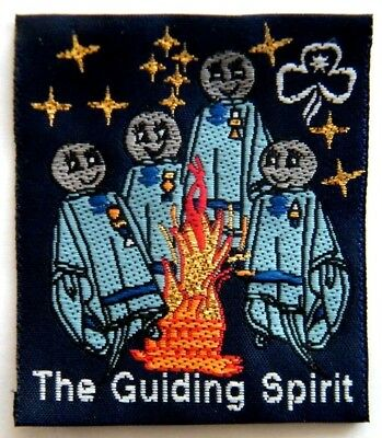 The Guiding Spirit - Guide Ghosts around a campfire - Girl Guides, FUN BADGE